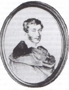 36 pav. Adomas Mickevičius, J. de Vivien'o akvarelė. 1824