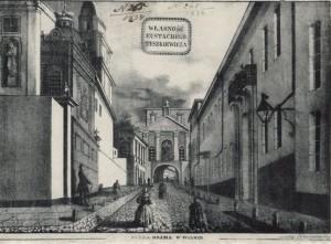 3. pav. Juozapas Ozemblovskis. Aušros Vartai Vilniuje. 1834