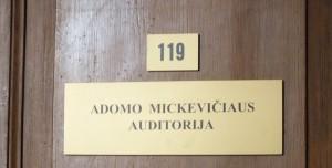 18 pav. Adomo Mickevičiaus auditorija  Vilniaus universiteto Filologijos fakultete