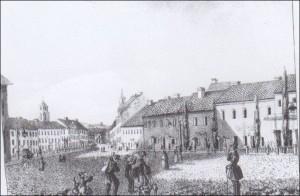 33 pav. Juozapas Ozemblovskis. Didžioji gatvė Vilniuje. 1834. Litografija