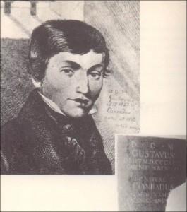 """8 pav. Konrado celėje kabo paminklinė lenta su lotynišku užrašu iš """"Vėlinių"""" trečiosios dalies prologo"""