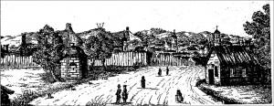 2 pav. Juozapas Ozemblovskis. Miesto panorama nuo Panerių. 1840. Litografija
