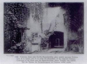 3 pav. Namo Bernardinų gatvėje, kur 1822 metais gyveno Adomas Mickevičius, kiemas. Jano Bulhako (1876-1950) fotografija
