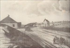 37 pav. Juozapas Ozemblovskis. Smuklė Aukštuosiuose Paneriuose. 1840. Litografija